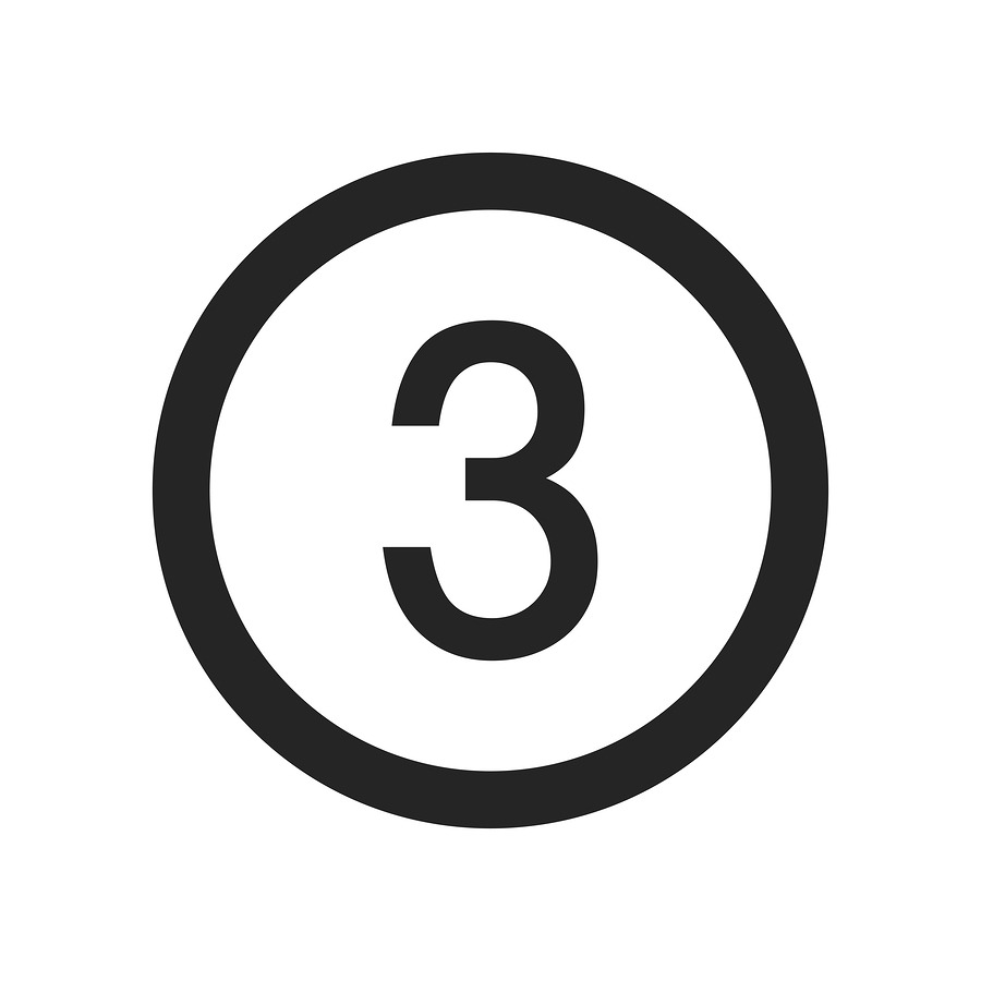 Number 3 icon simple vector sign and modern symbol. Number 3 vector icon illustration, editable stroke element isolated on white background. Number 3 icon in flat design style for mobile, logo, ui, app, web and graphic design, EPS10.