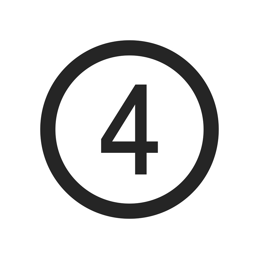 Number 4 icon simple vector sign and modern symbol. Number 4 vector icon illustration, editable stroke element isolated on white background. Number 4 icon in flat design style for mobile, logo, ui, app, web and graphic design, EPS10.